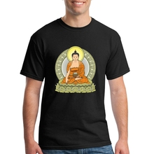 Print Man T Shirt Short Sleeve Tee O-Neck Movie T Shirts BUDDHA COLOR Mens T Shirts Man Awesome T Shirt Designs