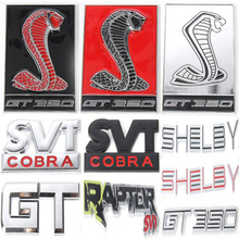 Newest GT 350 SHELBY SVT COBRA RAPTOR Sticker Badge Emblem ABS / Metal For Ford Mustang 2015 16 17 Up Free Shipping