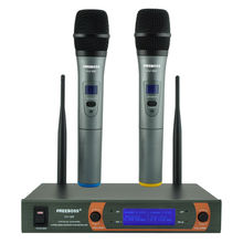 Freeboss KV-22 VHF 2 Handheld Wireless Microphone Dynamic Capsule Family Party Mixed Output Wireless Microphone(China)