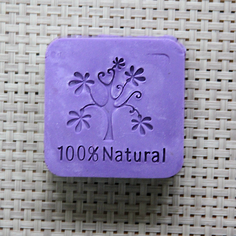 Nicole Acrylic Soap Seal Stamp Tree Pattern for Natural Handmade Soap Decoration(China)
