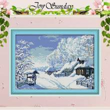 The Middle of Winter Counted Cross Stitch 11 14CT Cross Stitch landscape Cross Stitch Kits for Embroidery Home Decor Needlework(China)