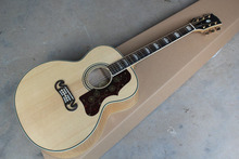 New Style Solid wood Top Burlywood Tiger stripes Burlywood J200 Electric Acoustic Guitar with fishman pickups -147-25