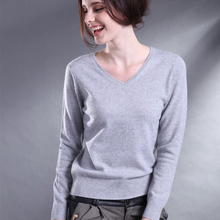 High quality cashmere sweater ladies winter blouse v collar knitted sweater shirt ladies ladies oversized sweater