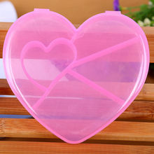 5 Slots Transparent Plastic Storage Hearts Beaded Jewelry Box Kit Accessorie 1X(China)