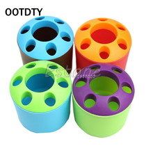 OOTDTY Cute Multi-functional Porous Desktop Pen Container Toothbrush Toothpaste Holder office desk accessories ROF95