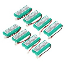 new arrival 8 PCS 2.4V 800mAh Ni-MH Cordless Phone Battery for Uniden BT-1011 BT-1018 BT101- green(China)