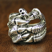 Amazing Design Antique Silver Plated Not Fade Retro Punk Anel Statement Vintage Claw Ring for Men 2015 Free Shipping