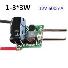 20pcs/lot 1-3*3w LED MR16 12V 3W 9W Led Driver 600mA Power Supply Lighting Transformers for LED lamp