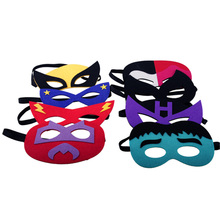 15pcs/lot baby kids children superhero half face masquerade eye mask costume masks birthday gift gifts party decoration supplies