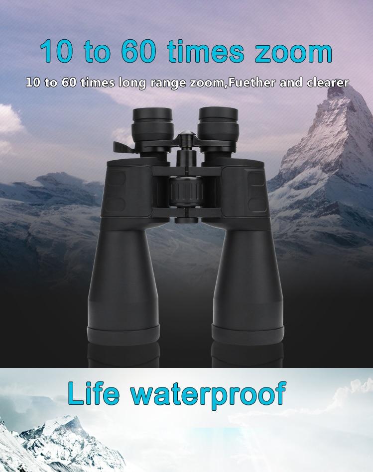 High Magnification Long Range Zoom 10-60 Times Hunting Telescope Binoculars HD Professional Zoom