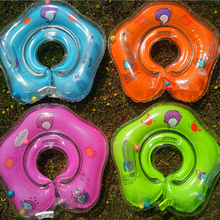 The New Inflatable Circle Newborn Infant Adjustable Swimming Neck Baby Swim Ring Float Ring Safety Double Protection(China)
