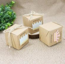 Event Party Supplies European princess prince kraft paper favor boxes gift candy box 100pcs/lot free shipping