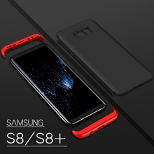 FREE DHL for samsung galaxy s8 Case s8 plus cover Full-Body Protect three stage Structure S8 Phone Shell Luxury Case 100PCS/LOT