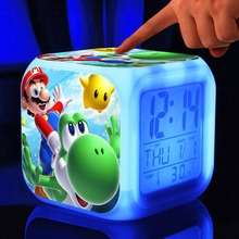 Super mario bros Digital Toys action figures toys hobbies dolls night light supermario Colorful Glowing night light
