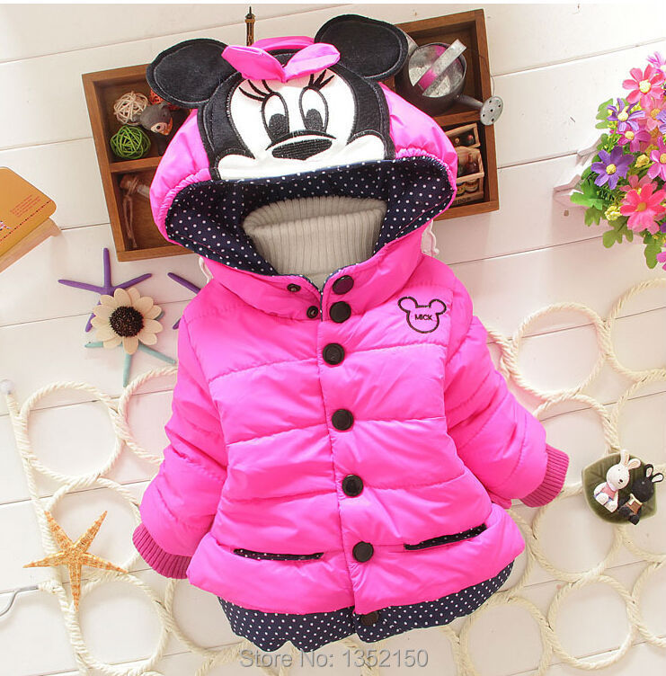 High quality Childrens Coat 2014 New Design Girls Minnie Coats Winter Warm Jacket Outerwear for Kids Clothes Free ShippingОдежда и ак�е��уары<br><br><br>Aliexpress