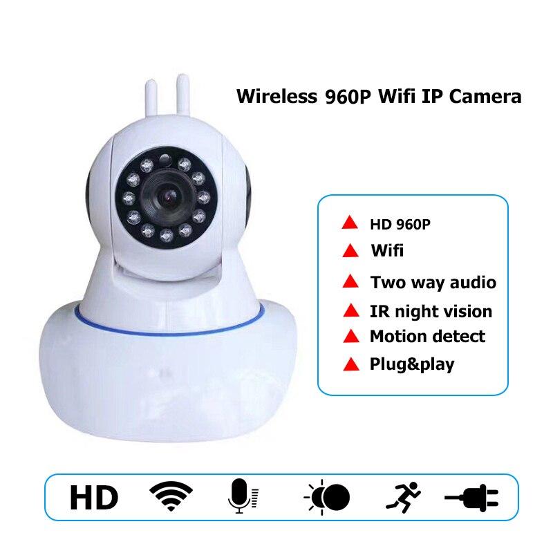 HD 960P Wireless IP Camera Wifi IR-Cut Night Vision Two Way Audio P2P Video Surveillance Security Camera Wi-Fi Micro SD Card<br>