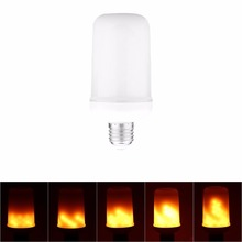E27/E26 7W LED Flam Light Bulbs Vintage Gas Lamp Animated Flickering Fire Effect Atmosphere Decorative Light,85-265V Christmas(China)