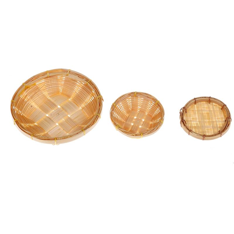 1//12 handmade weaving bamboo baskets dollhouse miniature egg food accessory BSCA