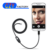 1M PC Android Endoscope Camera 5.5mm Dia 100CM Lens USB Camera Waterproof Inspection Borescope Micro OTG USB Car Endoscope(China)