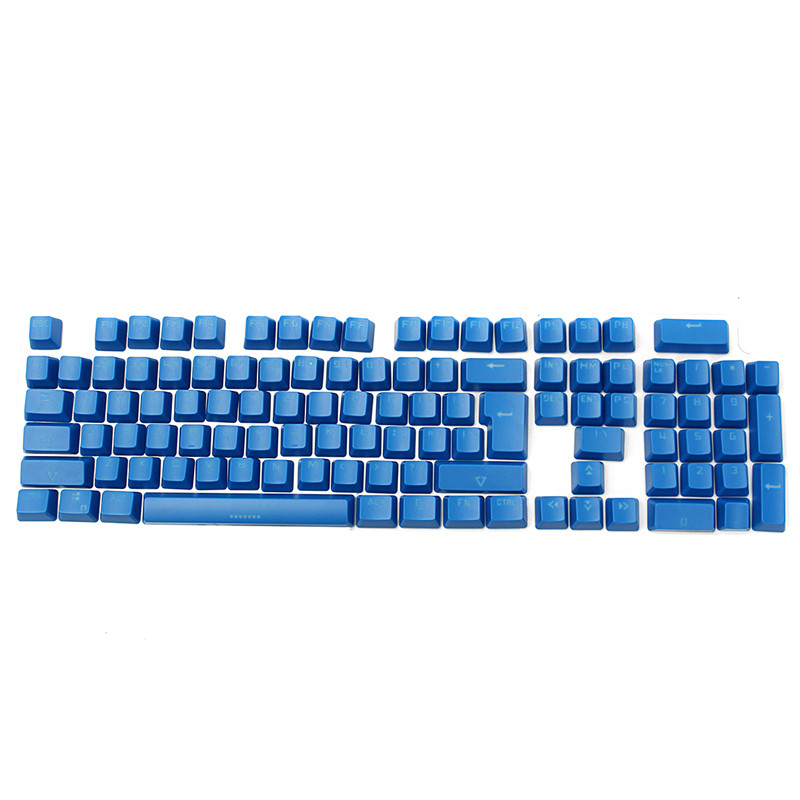 Backlit 104 Keycap for Cherry MX Switches Double Shot Translucent Backligh Gaming Keyboard ABS Translucidus Key caps Blue<br><br>Aliexpress