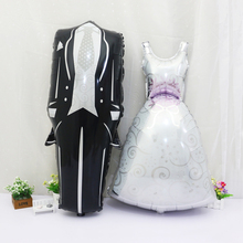 2pcs New Bridegroom Groom Bride Balloon Wedding Decoration Aluminum Foil Balloon Wedding Balloons Marriage Decoration Balloon