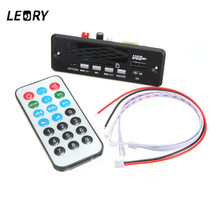 LEORY 7/12V Wireless Bluetooth MP3 Decoder Board Digital LED Display With Remote Controller Audio Module USB TF Radio WAV MP3(China)