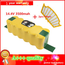 3500mAh High Quality New Battery Pack for iRobot Roomba 500 Series 510,530,535,540,550,560,570,580 Battery Robotics+2pcs Filters