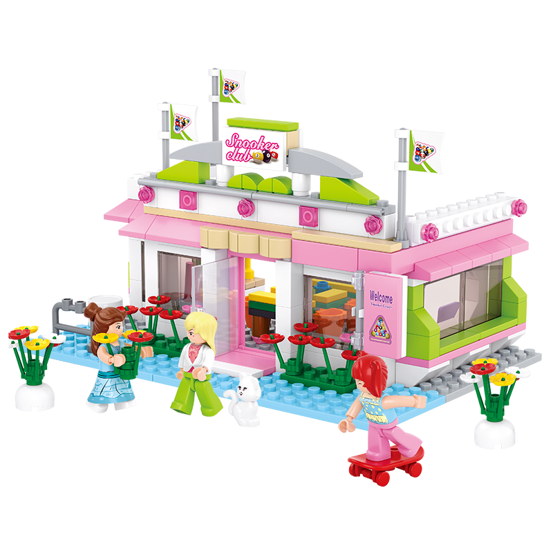 Sluban Pink Dream Series Snooker Club 289pcs/set Building Blocks Learning Educational for Girls Toy Compatible with major brands<br><br>Aliexpress