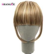 Buy SHANGKE Short Two Clips Hair Extensions Straight Bang Heat Resistant Synthetic Hair Bangs Women Hair Pieces for $3.08 in AliExpress store