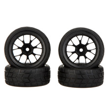 GoolRC 4Pcs High Performance 1/10 Rally Car Wheel Rim and Tire 20101 for Traxxas Tamiya HPI Kyosho RC Car