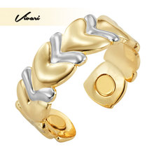 Vivari 2017 Healthy Fashion Resizable Rings Jewelry Gold Color Fish Pattern Magnetic Ring for Women Charm Party Ladies Jewelry