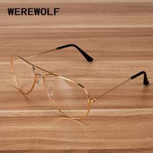New Gold Frame Clear Aviator Glasses For Men Oversized Rayed Sunglasses Women Driver Car Glasses Computer Glasses Optical 3025(China)
