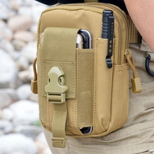 Outdoor Camping Climbing Bag Tactical Military Molle Hip Waist Belt Wallet Pouch Purse Phone Case iPhone 7 Samsung