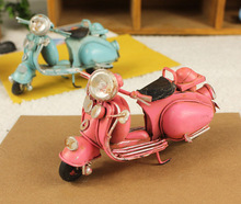 Free shipping! Antique Miniature Motorcycle Model Retro Motobike Toy Cute Design Gift Home Decoration M1007