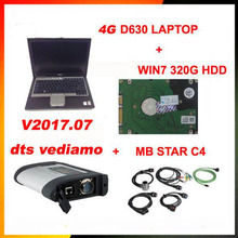 MB SD Connect Compact 4 Star C4 Diagnosis V2017.7320G HDD 4G D630 Laptop Software Installed Ready to Use DAS Vediamo free gift(China)