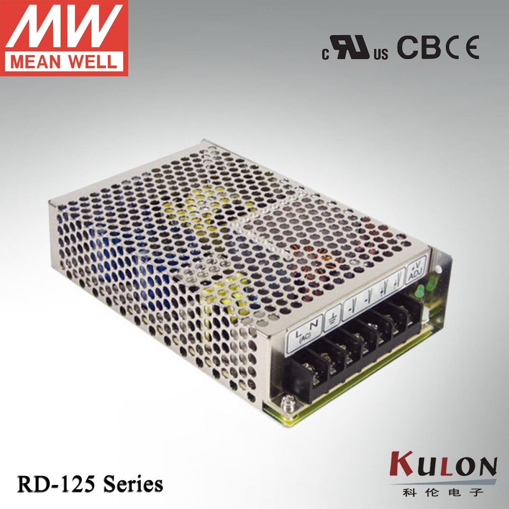 Original Mean well RD-125A 130.9W 5V/2~15A 12V/0.5~10A Dual output Meanwell Power Supply<br><br>Aliexpress