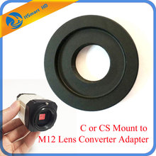 C or CS Mount to M12 Lens Converter Adapter Ring CS Camera to M12 Board Lens For AHD SONY CCD TVI CVI Box CameraCamera Support(China)