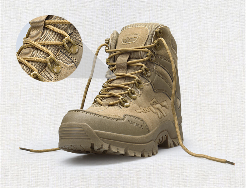 Brand Men's Boots Military boot Chukka Ankle Bot Tactical Big Size Army Male Shoes Safety Combat Mens Motocycle Boots (8)