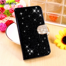 Stand Flip Cell Phone Cases Covers For Sony Xperia L Case S36h C2105 C2014 Housing Bags Bling Diamond Holster Magnetic Shell