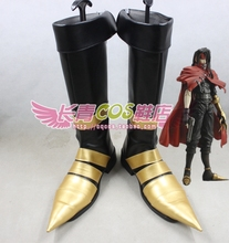 FINAL FANTASY VII Vincent Valentine Cosplay Shoes Boots Custom Made 0589
