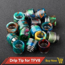 Quartz Banger Epoxy resin 810 Drip tip suitable for TFV8 / TFV8 Big Baby / TFV12 rda rta tank E Cigarettes wide Mouthpiece(China)