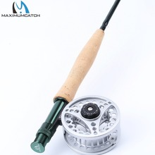Maxcatch Extreme Fly Fishing Combo 9FT 5WT Fly Rod with Large Arbor Aluminum Reel