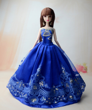NK One Pcs 2017 Princess Wedding Dress Noble Party Gown For Barbie Doll Fashion Design Outfit Best Gift For Girl' Doll 053A