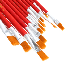 12Pcs Artist Paint Brush Set Nylon Hair Watercolor Acrylic Oil Painting Drawing Drop Ship(China)
