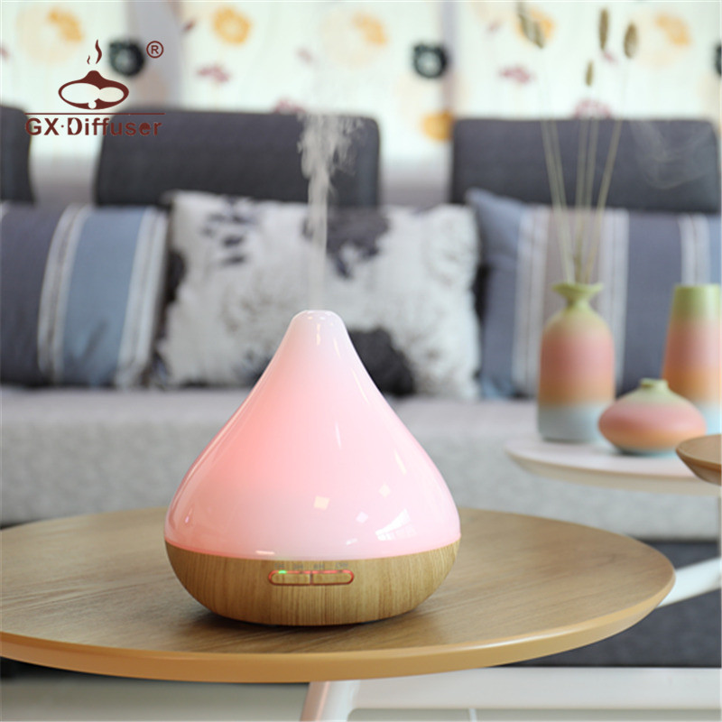 GX.Diffuser 12W Aromatherapy Air Humidifier Ultrasonic 7 LED Night Colorful Lights Mist Maker Aroma Diffuser Aromatherapy Oils  <br>