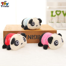 Wholesale 100pcs cartoon small panda doll mobile phone key chain pendant plush toy wedding birthday party gift present cheap