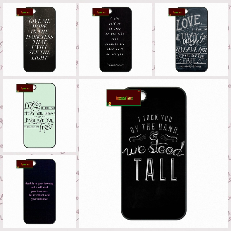 Mumford and Sons Rock Band Cover case for iphone 4 4s 5 5s 5c 6 6s plus samsung galaxy S3 S4 mini S5 S6 Note 2 3 4  DE0164