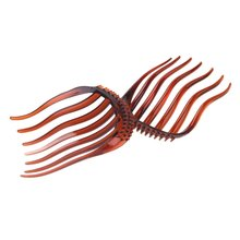 10pcs Bump It Up Volume Inserts Hair Clip for Ponytail Bouffant Styles Hair Comb coffee(China)