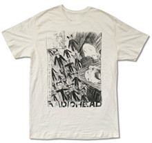 RADIOHEAD SCRIBBLE IMAGE IVORY WHITE T SHIRT NEW ADULT OFFICIAL WASTE