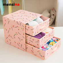 Add high drawer drawer type socks underwear underwear to accept a box home to put bra cloth art box Oxford cloth packing case(China)